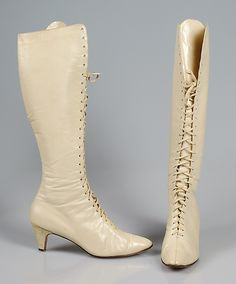Boots Designer: Beth Levine (American, born Patchogue, New York 1914–2006 New York) Manufacturer: Herbert Levine Inc. (American, founded 1949) Department Store: Bonwit Teller & Co. (American, founded 1907) Date: ca. 1964 Culture: American Medium: Leather Credit Line: Brooklyn Museum Costume Collection at The Metropolitan Museum of Art, Gift of the Brooklyn Museum, 2009; Gift of Lady Emilia Dreher Armstrong, 1989