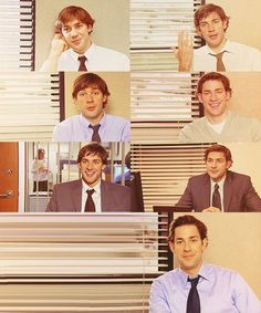 Jim Halpert in every season! :) The Office <3