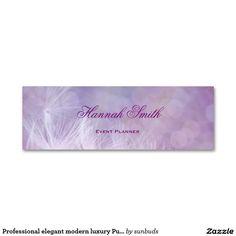 Professional elegant modern luxury Purple Banner Mini Business Card