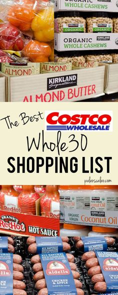 Whole 30 costco, Whole 30 diet, Whole 30 lunch, Whole Whole 30 menu, Whole 30 recipes - The Only Costco Shopping List You& Ever Need - Whole 30 Costco, Whole 30 Menu, Whole 30 Meal Plan, Whole 30 Lunch, Whole 30 Diet, Paleo Whole 30, Whole 30 Recipes, Clean Recipes, Paleo Recipes