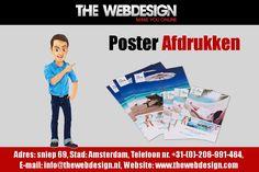 Wij bieden afdrukken op groot formaat op hoogwaardig papier en stof. Poster Online, Groot, Print Poster, Printing, Writing Paper