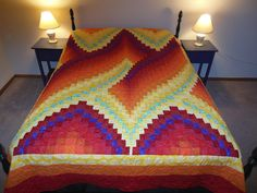 Twist Bargello Quilt Full Size Customizable