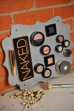 Magnet Make-up Board to organize your make-up in a beautiful and functional way.  Keeps all your make-up in easy reach! Style: SWASH on Etsy, $79.00