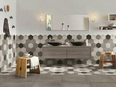 carreaux hexagonaux design