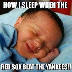 How I sleep when the Red Sox beat the Yankees!!