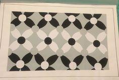 textil patrón de tela fabric pattern negro gris blanco teoría del color colores  flores flor