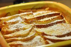 Luxus-Semmerlverwertung / Brot-Apfel-Mascarpone-Auflauf