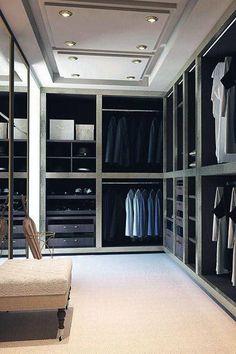 Top 100 Best Closet Designs For Men - Part Two Dressing Room Closet, Closet Bedroom, Dressing Rooms, Master Closet, Man Closet, Dream Bedroom, Front Closet, Huge Closet, Dressing Area