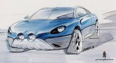 A 1996 Sketch by the late and lovely Davide Arcangeli... 20 years before the new Alpine.
