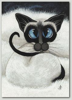 Siamese Cat Nap by AmyLyn Bihrle.