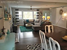 Retro Ranch Reno: black and white geometric rug and Rugs USA's Winsdor Overdyed Grove rug!