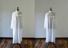 very pretty white cotton victorian romantic nightie $39.00