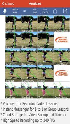 Golf Swing Analyzer, Instant Messenger, Golf Training, Visit Website, Software, App, Apps