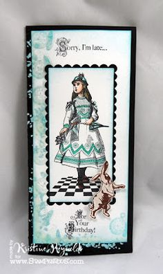 Stamps and the Fabulous fragments are all from Stampendous Impressions.