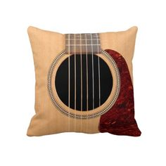 Acoustic Guitar Pillow (Cool Bedrooms Music)