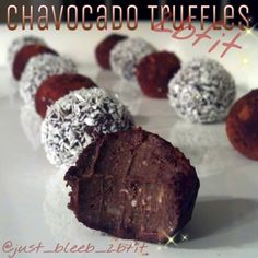 Ripped Recipes - Twobfit Chavocado Truffles - Absolutely guilt free, no baking required, no freezing required, melts in your mouth! Can easily be altered to be gluten free (gf oats), dairy free (plant protein instead of whey), vegan etc. Such an easy recipe and satisfies so many dietary restrictions! Not to mention... a suicide of deliciousness.