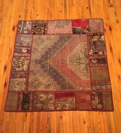 Patchwork Turkish handmade Rug  Vintage Carpet by RugToGo on Etsy