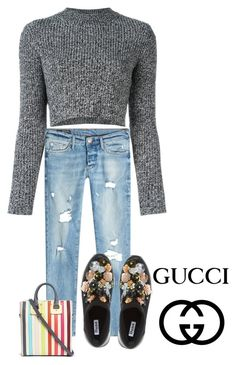 """""""good"""" by hanii-omachiss ❤ liked on Polyvore featuring Carven, True Religion, Dune, Sophie Hulme and Gucci"""