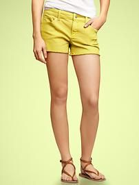 Women's Capris & Shorts: capri pants, cropped jeans, denim shorts, bermuda shorts   Gap...loving the colored cut offs