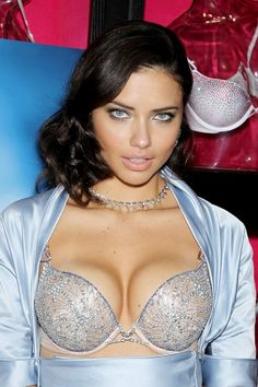Adriana Lima wearing a diamond-studded Victoria Secret bra worth 2 million.