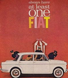 We couldn't agree more, everyone needs AT LEAST one Fiat! Thank you for many great years of innovation and style that will never get old, gratzie! #throwbackthursday #tbt #Fiatlove #style #amore