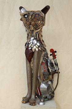 Salvageables: Animal Junkyard Sculpture, By Nathalie Trépanier, via Visual News