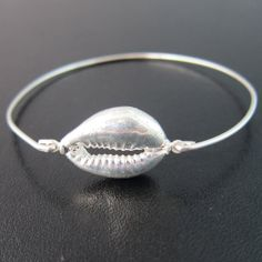 Cowrie Shell Bracelet Bangle Cowrie Shell Jewelry by FrostedWillow, $39.95