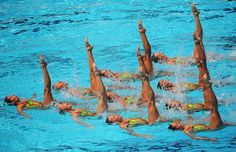Water ballet: the world synchronised swimming championships in Rome - Telegraph