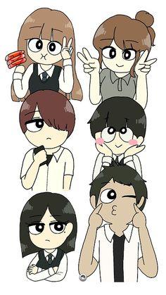 Cartoon Art Styles, Shoujo, Tofu, Manhwa, Kdrama, Revolution, Chibi, Iphone Wallpaper, Kawaii