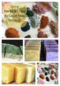 You can make so many different colors of soap using various herbs!