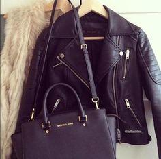 """thechic-fashionista: """" leather jacket """" Xo"""