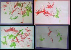 PAN CON CHOCOLATE BLOG DE RECURSOS PARA EDUCACION INFANTIL: Pintar con pajitas soplando
