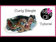 ▶ Curly Bangle   Polymer Clay Tutorial   Bracciale Riccioli - YouTube