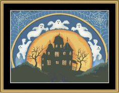 Haunted House [KL-39] - $16.00 : Mystic Stitch Inc, The fine art of counted cross stitch patterns