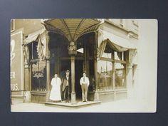Streator Illinois IL Real Photo RPPC Schlitz Beer Sign J. Price Buffet c.1910