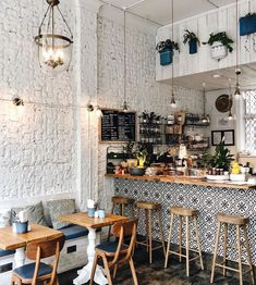 Sadly it's a cosy cafe kind of day here in 🥶 that is ok we have plenty 😍 Cafe Jumo in Kensington can be your first stop 📸… Cafe Shop Design, Coffee Shop Interior Design, Small Cafe Design, Restaurant Interior Design, Small Restaurant Design, Pastry Shop Interior, Cozy Coffee Shop, Small Coffee Shop, Coffee Shops