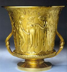 centuriespast:  STORR, PaulTheocritus' Cup1812-13Gilded silverRoyal Collection, London
