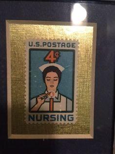 Nursing Collectible 1961  Photo Frame Nurse 4 cent stamp Unused