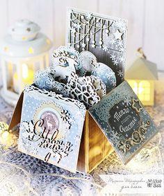ScrapBox - уникальные материалы для скрапбукинга: МК от Татьяны Шаргородской. Новогодняя Pop-up Box Card