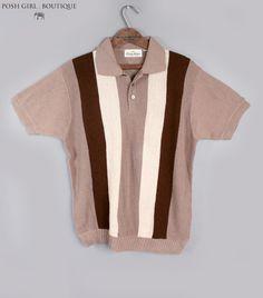 1950's Mooney Andrews Mens Vintage Knit Shirt
