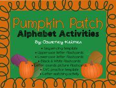 Pumpkin Patch Alphabet Activities