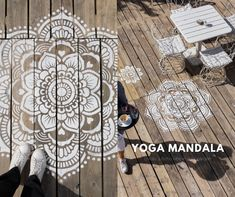 Find your harmony. A mandala ensures a harmonious flow in your home. With the help of this stencil you make your mandala on the wall. As your stress levels go down, energy levels improve. A mandala in your home increases your energy, power, strength and is good for mind, body and soul.
