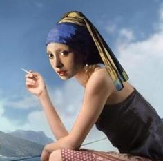 Girl with a pearl earring... and a cigarette :)