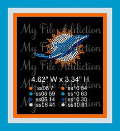 Miami Dolphins Football Hat Design Instant Download Rhinestone SVG EPS Design File by MyFileAddiction