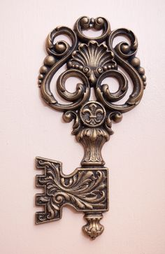 Giant rocco key with fluer de lis medallion.. Etsy.