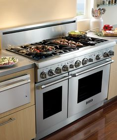 range with griddle | Gas Ranges With Grills | Stove Top Grills & Griddles by Thermador
