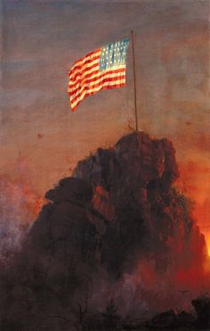 """Frederic Edwin Church (American, 1926-1900), """"Our Flag,"""" 1864; Indianapolis Museum of Art, Gift of Mr. and Mrs. Eugene C. Pulliam"""