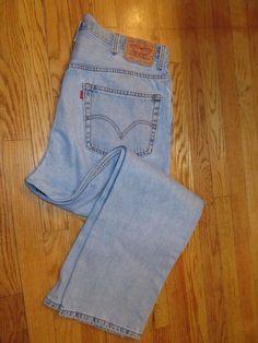 Levi's 505 Blue Jeans Size 40 X 30  (#3250  J) #Levis