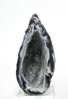 Druzy Drusy Agate Geode Crystal Cave Ocho Ebony by FenderMinerals, $12.75