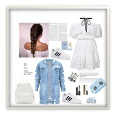 """""""Untitled #70"""" by femina-mode ❤ liked on Polyvore featuring LoveShackFancy, adidas, Versace, Mixit, Joomi Lim, Marc Jacobs, Edward Bess, Anya Hindmarch and NYX"""